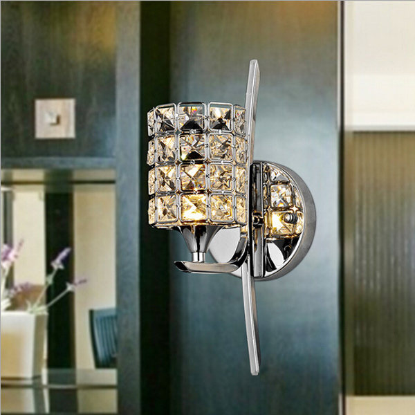 Modern Dimmable Crystal LED Wall Light Sconce Lamp Indoor Lighting Wall Lights