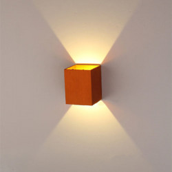 Modern Gold 3W LED Square Wall Lamp Surface Install Light Fixture