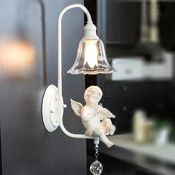 Modern Nordic Special Angel Children Wall Light Glass Balcony Lamp Wall Lights