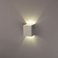 Moderne Sølv 3W LED Square Væglampe Surface Installer Lysarmatur