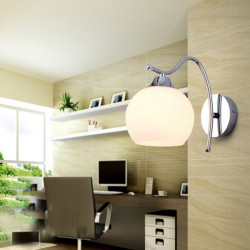 Moderne Enkel Rund Væglampe for Soveværelse Stue Corridor