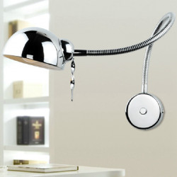 Modern Swing Arm Wall Lamp Flexible Tube Mirror Bathroom Bedroom Light