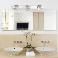 Modern Three Heads 9W LED Crystal Mirror Bathroom Cosmetic Wall Light
