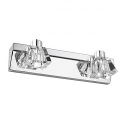 Modern Two Heads LED Crystal Mirror Wall Light For Home Bathroom