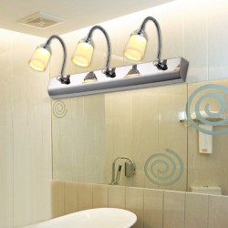 Modern Two/Three Heads LED Mirror Wall Light For Indoor Bathroom