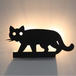 Moderna Tappning Kortfattad Cat Shaped Rustikt Vägg Lampa Ljus