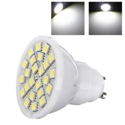 NEW GU10 5W Pure White 350-380LM 5050 SMD 24 LED Spot Light Lamp 220V