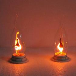 Træk Tail E14 3W Edison Pære Candle Flame Bubble Gul Lys 220V