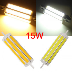 R7S COB 15W 1200-1350LM Varmvit / Vit LED Lampa 90-260V