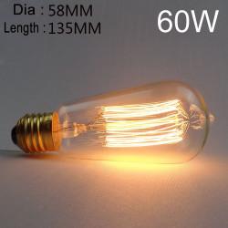 ST58 E27 60W Retro Edison Bulb AC 220V Incandescent Bulb