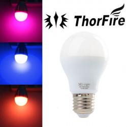 ThorFire Dimmbare E27 6W RGB AC 85 265V LED Kugel Glühlampe Nur