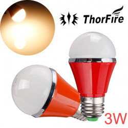 ThorFire E27 3W SMD 5730 85-265V Varmvit LED Globe Light Bulb