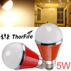 ThorFire E27 5W SMD 5730 AC 85-265V Warm White LED Globe Light Bulb