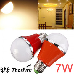 ThorFire E27 7W SMD 5730 AC 85 265V wärmen weiße LED Kugel Glühlampe