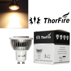 ThorFire GU10 CREE 3W LED Varm Vit Infälld Track Spot Ner Ljus