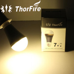 ThorFire Model-P1 E27 7W Warm White Prichard Chip LED Spotlight Bulb