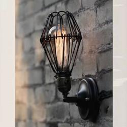 Väggmonterad Smidesjärn Industrial Edison Vägglampa