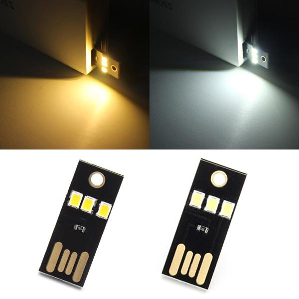 0.2W White/Warm White Mini USB Mobile Power Camping LED Light Lamp LED Strip