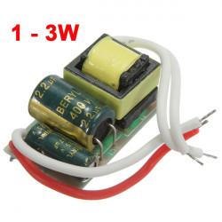1 3W LED Treiber Netzteil Konstantstrom für Birne 85 277V