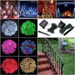100 LED soldrevne fe String Light Garden Party Decor XMAS