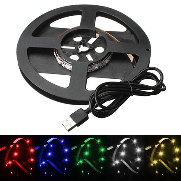 100cm LED Bånd Lysbånd TV Baggrund Lys Med 5V USB-kabel LED Bånd / Lysbånd
