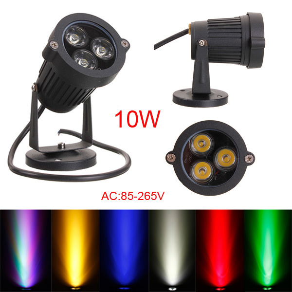 10W LED Flut Punkt Licht für Garten Wand Yard Pfad IP65 AC 85 265V LED Beleuchtung