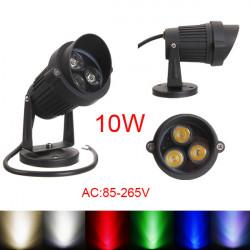 10W LED Flood Spot Light With Cap For Garden Yard Path IP65 AC 85-265V