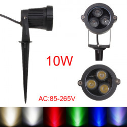 10W LED Flood Spot Light With Rod For Garden Wall Yard IP65 DC 12-24V