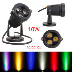 10W LED Flood Spot Light With Rod For Garden Yard Path IP65 AC 85-265V