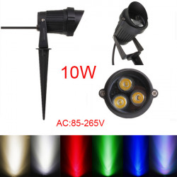 10W LED Flood SpotLys Med Rod & Cap for Have Yard IP65 AC 85-265V