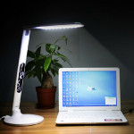 10W LED Touch Dimmbare Klapptisch Lampe mit Kalender Wecker LED Beleuchtung