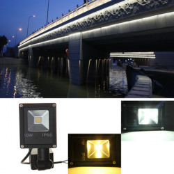 10W PIR Motion Sensor LED Flood Light IP65 Warm/Cold White Lighting