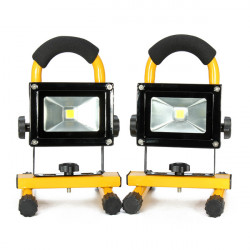 10W Portable Rechargeable LED Flood Light Work Outdoor Emergency Light