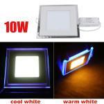 10W Forsænket Square Akryl LED Panel Loftslampe Downlight 85-265V LED Belysning