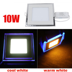 10W Recessed Square Acrylic LED Panel Ceiling Light Downlight 85-265V