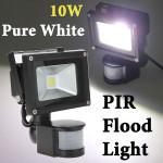 10W White 800LM PIR Motion Sensor Security LED Flood Light 85-265V LED Lighting