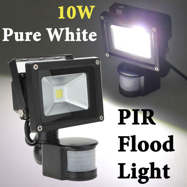 10W White 800LM PIR Motion Sensor Security LED Flood Light 85-265V LED Lighting