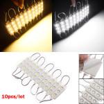 10stk Molding Vandtæt 3LED 5050 SMD Modul Lys Hvid / Varm Hvid LED Bånd / Lysbånd