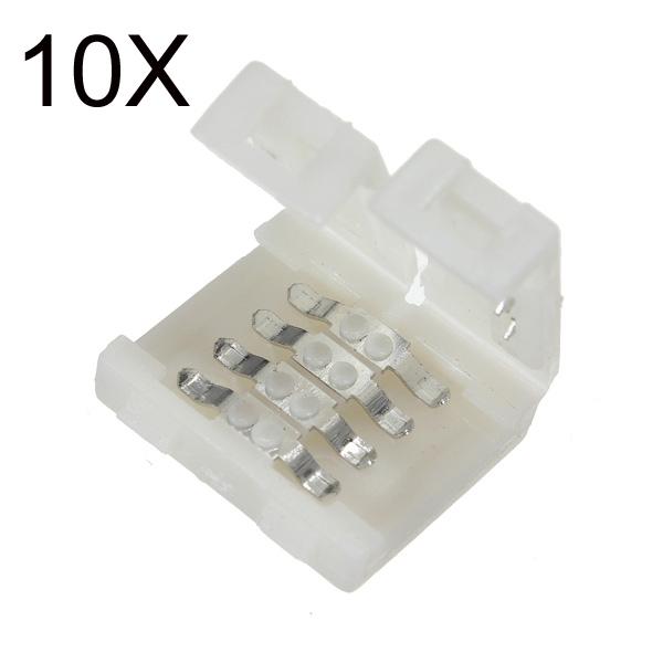 10x10mm Bredde Stik Til RGB 5050 LED Bånd Lysbånd Lys Så Let at Bruge LED Bånd / Lysbånd