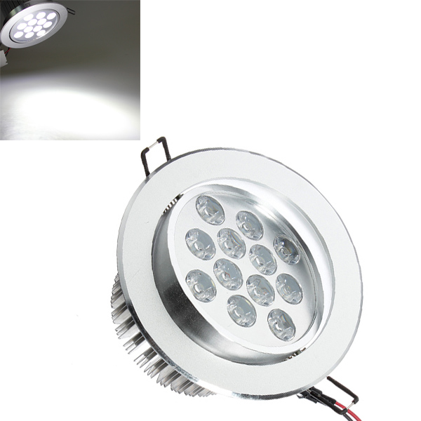 12W 1200LM 6000-6500K Vit Kabinett Skåp LED Infälld Taklampa 85-265V LED-belysning