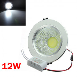 12W COB LED Ceiling Down Light Silver Shell Belt Drive 85-265V