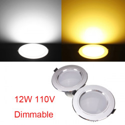 12W Cree LED Downlight Ceiling Recessed Lamp Dimmable 110V + Driver