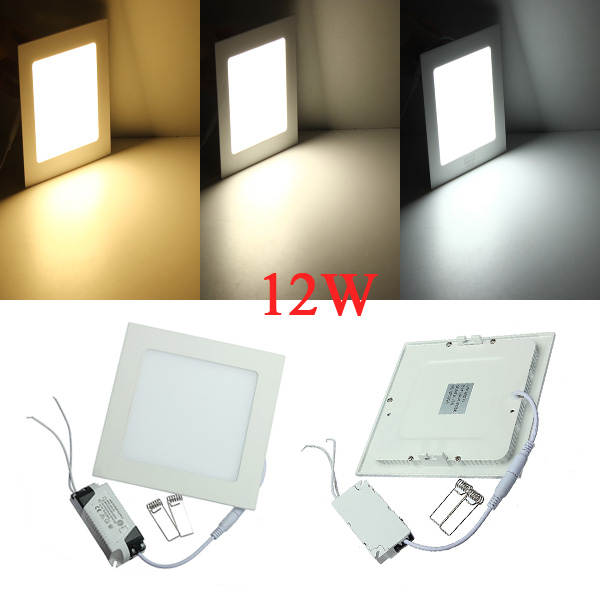 12W Square Ultrathin Ceiling Energy-Saving LED Panel Light 85-265V LED Lighting