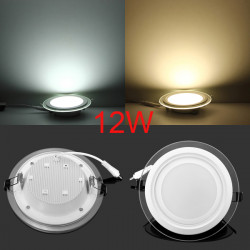 12W Ultratunn Round Akryl Infälld LED Takpanel Down Light