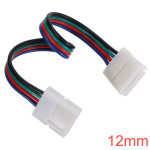 12mm 4-Pin LED Connector for RGB LED Bånd Lysbånd Lys Med Wire LED Bånd / Lysbånd