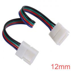 12mm 4-Pin LED Connector for RGB LED Bånd Lysbånd Lys Med Wire