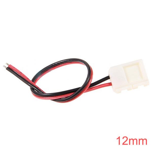 12mm LED Connector for Single Farve LED Bånd Lysbånd Lys Med Wire LED Bånd / Lysbånd