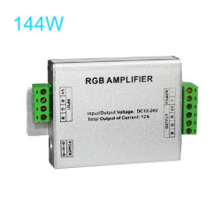 144W LED RGB Amplifier For 3528/5050 SMD RGB LED Strip Lights 12V