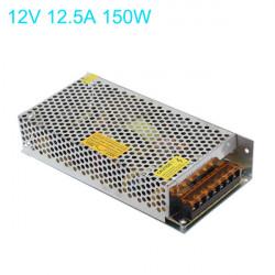 150W Power Driver Til LED Bånd Lysbånd DC 12V 12.5A AC110-220V