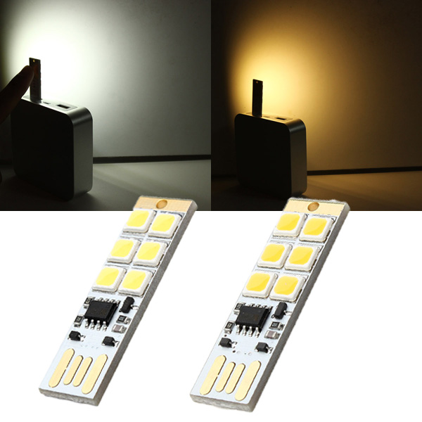 1.5W 75LM Mini Touch Switch USB Mobile Power Camping LED Light Lamp LED Strip